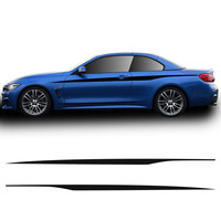 M Performance Door Side Stripes Waistline Body Stickers Decal for BMW 4 Series F32 F33 420i 428i 435i Car Styling Accessories