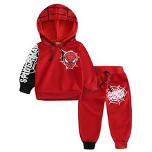 2019 New childrens wear boys hoodie trousers Spider-Man cartoon suit