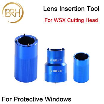 BRH obiektyw html narzędzia D30 dla WSX koncentrując Collimating obiektywu na WSX NC12 NC30 urządzenie do cięcia laserowego włókna hurtownie tanie i dobre opinie WSX Insertion Tools for Optics BAIRUNHUI 30mm WSX Laser head