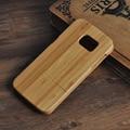 Real hecho a mano caja de madera de bambú para samsung galaxy s7 s7 edge g9350 madera duro de la contraportada carpeta de la bolsa de shell bolsa