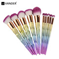 Vander Kits Professional 10 PCS Makeup Brushes Set Fundação Sombra Em Pó Cor Gradiente conjunto de pincel de maquiagem pincel maquiagem