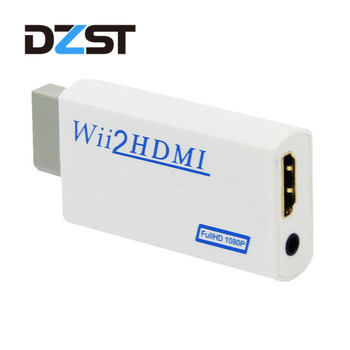 DZLST Wii2HDMI Adapter 3.5mm Audio Wii to HDMI Adapter Converter Support Full HD 720P 1080P Video for HDTV Monitor Projector