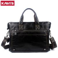 KAVIS Brand Leather handbag bag Men Travel for Laptop Briefcase Male Crossbody Hand Sling O handles Tote Shoulder Bolsas Sac Tas