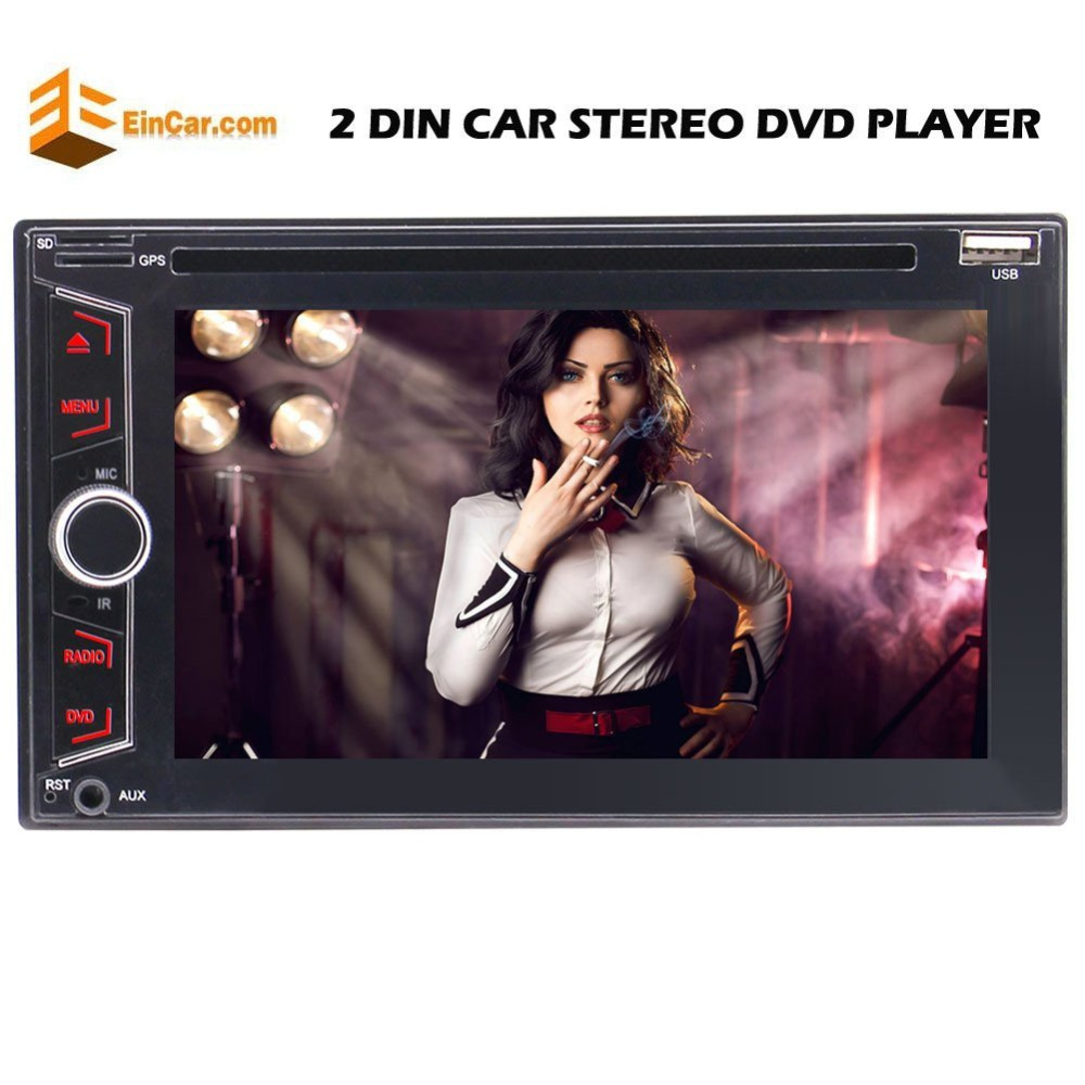 Double 2 Din Car Stereo Bluetooth DVD/CD Player Auto Radio FM/AM/USB/SD/AUX/RDS/Subwoofer&Steering Wheel Control Remote Control