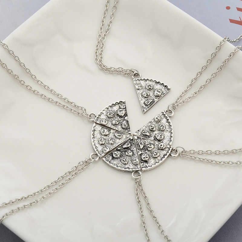 1 Pcs Pizza Liontin Kalung Persahabatan Kalung Teman Terbaik Selamanya Kreatif Kenang-kenangan Memorial Hari Natal Hadiah untuk Teman