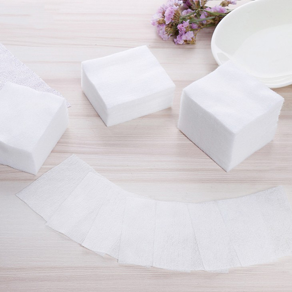 Toiletry Kits Orderly Hot Sale 1000pcs/set Cosmetic Non-woven Fabric Pads Remove Makeup Wipes Soft Eyeshadow Mascara Remover Facial Cleansing Paper Grade Products According To Quality