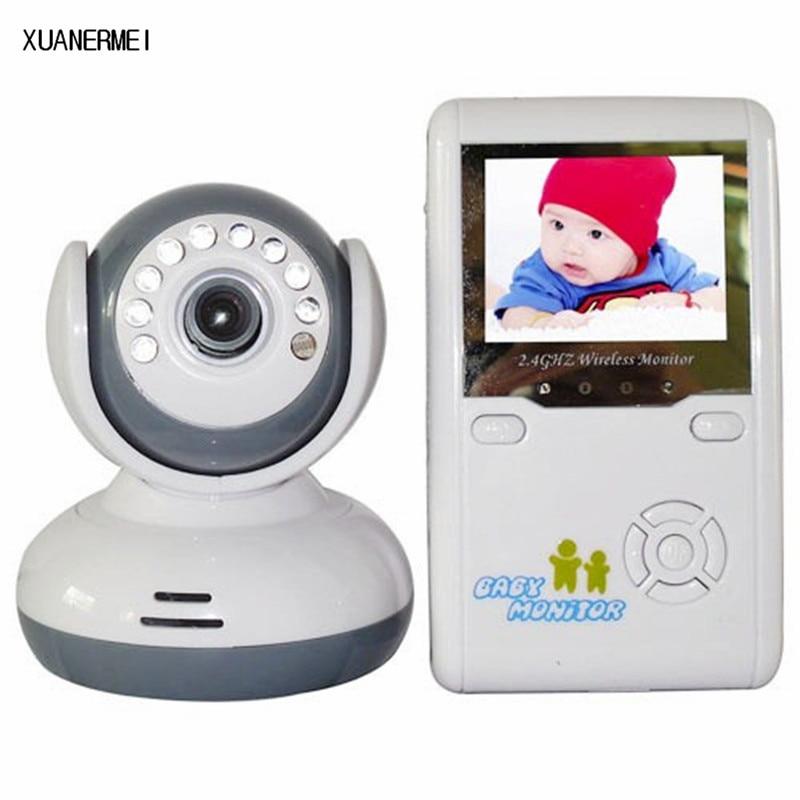 Xuanermei 2.4 GHz Wireles Baby Monitor Radio Digital Video Baby Camera Night Vision Color Display Nanny Babyphone Video