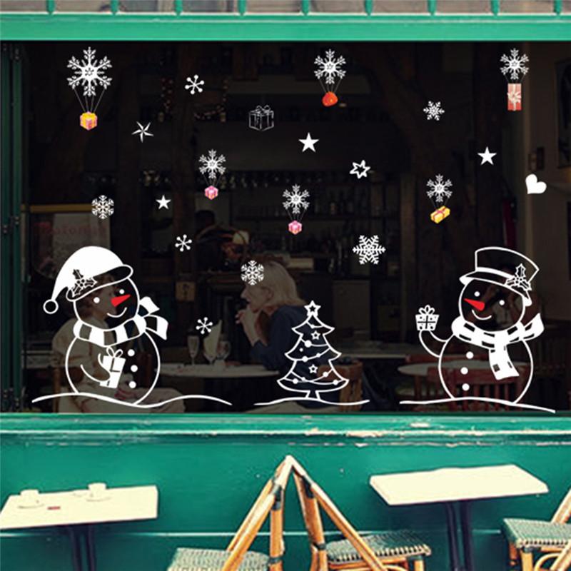 rods elk снеговик rods новый год в течение стены наклейки для занавесок аксессуары