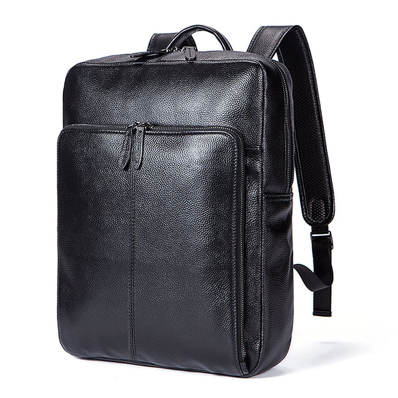 Men's fashion leather laptop backpack women Fashionable locomotive wear vertical square soft surface travel bags duffle bag