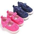 Sapatos de bebê Primavera Outono Nova 0 a 18 meses de Bebê Menina Sapatos Golfinho Borboleta-Nó Fundo Macio Anti-Sapatos Da Criança anti-derrapante