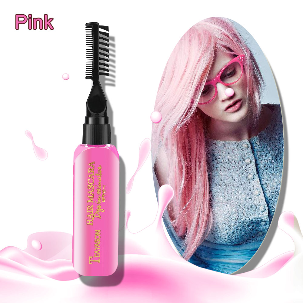 Easy To Clean Non-toxic One-time Temporary Brand DIY New Hair Dye Color Not Hurt Hair Mascara Hair Cream 13 Colors for Choice image
