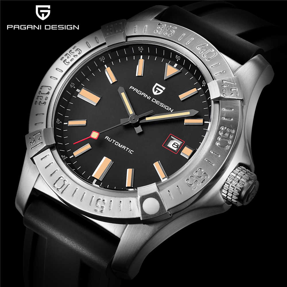 PAGANI DESIGN Men casual fashion luxury waterproof watch shockproof Stainless Stee Mechanical Automatic Watch Full Calendar