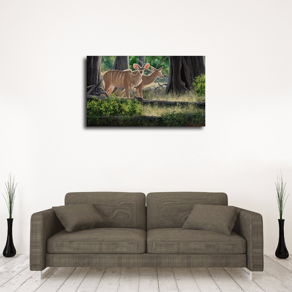 C_X175 Natural Scenery Forest Animals Antelope. HD Canvas Print Home ...