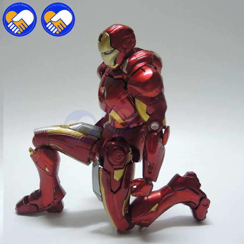 2018 NOVO vestido de 15 centímetros Homem De Ferro MK7 Figma MAX EX-018 217 Com Sofá Figura Brinquedos Superhero Ironman PVC brinquedos Action Figure Modelo Com Caixa
