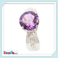 Beadsnice ID25580 nueva elegante naturales amatista anillos de anillos de plata de ley 925 anillo de la mujer en stock artículo