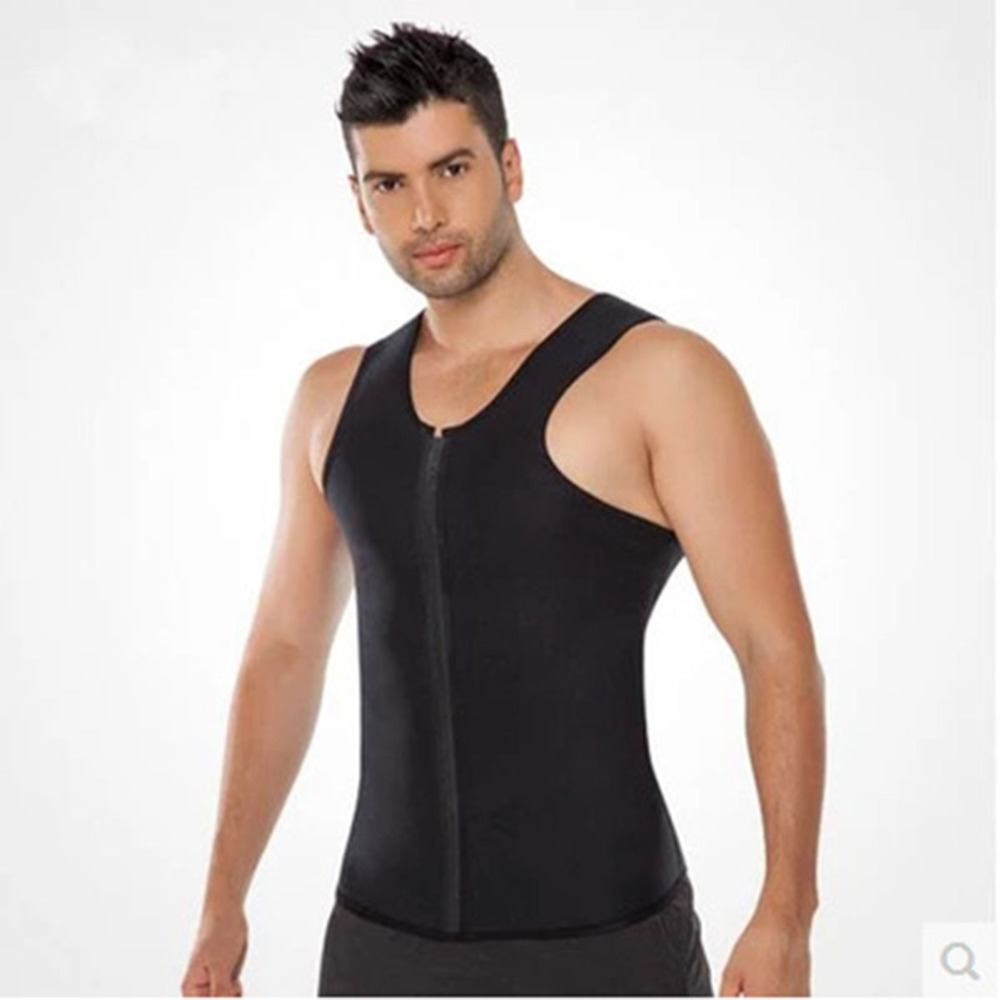Men Body Shapers Mens Vest Tanks Waist Trainer Weight-Loss Hot Shapers Neoprene Workout Slimming Belly Body Shapers Fat Burning