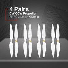4 пары 10 дюймов винт для RC xiaomi 4 K Дрон для xiaomi mi Drone 4 К Pervane белый Pervane Drone лезвие пропеллер аксессуары