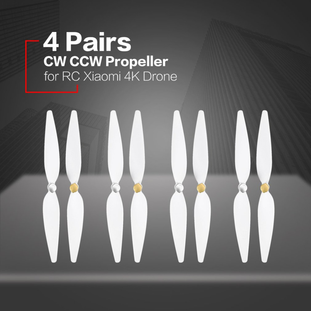 4 Pairs 10inch propeller for RC xiaomi 4K drone White pervane drone blade propeller for xiaomi mi drone 4k propeller accessories xiaomi 4k drone propeller front and back 4pcs