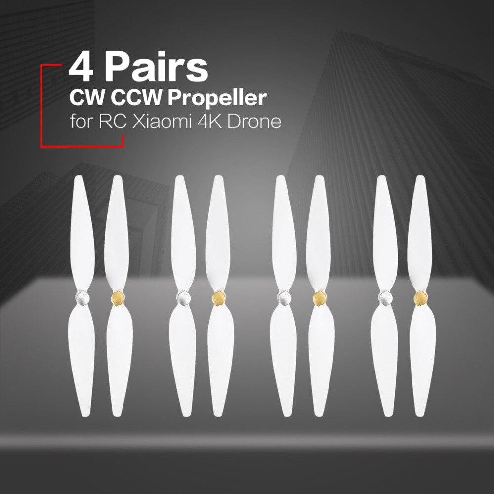 4 pares 10 pulgadas de Hélice para RC xiaomi 4 K Drone para xiaomi mi Drone 4 K Pervane blanco Pervane Drone Blade hélice Accesorios