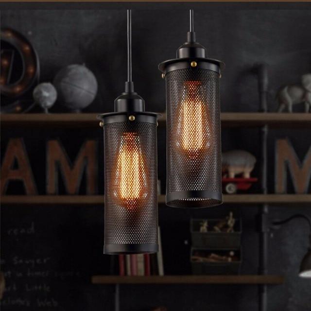EuSolis Loft Vintage Pendant Lights Industrial Lamp Lamparas De ...