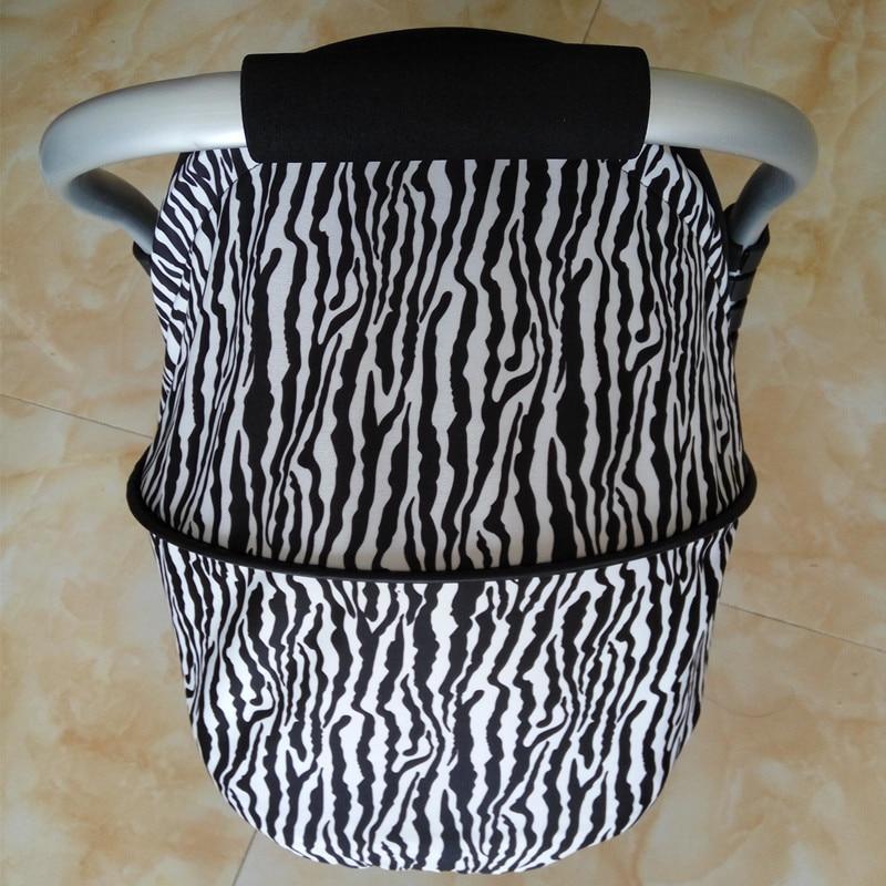 Svartvita Stripes Barnsäte Newbore Zebra Mönster Baskert Bil - Barnsäkerhet - Foto 4