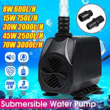Home Adjustable 8W/15W/30W/45W/70W Ultra-quiet Water Submersible Pump Flows Rate Fountain Aquarium Water Pump Air Fish Tank(China)