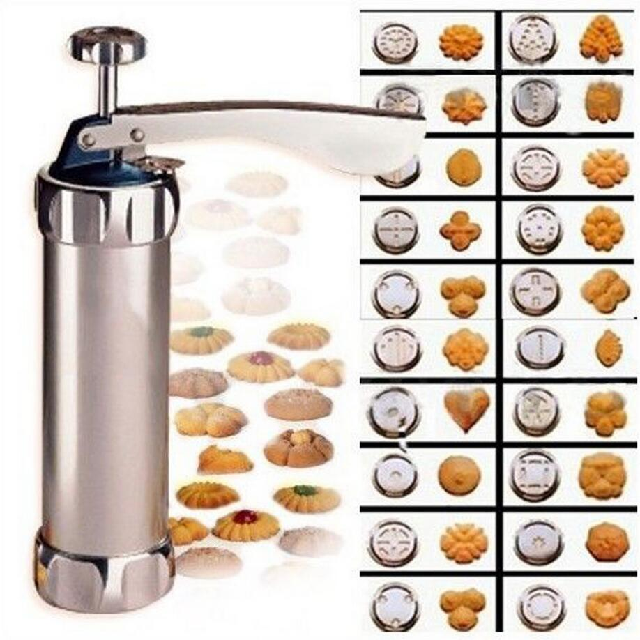 Biscuit Stainless Steel Cookie Press /& Icing Gun Set 20 Pieces Cake Decoration