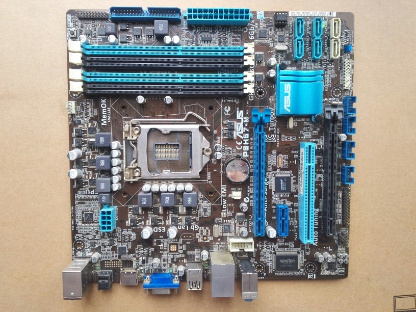 Used,Asus P8H67-M Desktop Motherboard H67 Socket LGA 1155 i3 i5 i7 DDR3 32G uATX used for asus p8h77 m pro original used desktop motherboard h77 socket lga 1155 i3 i5 i7 ddr3 32g sata3 usb3 0