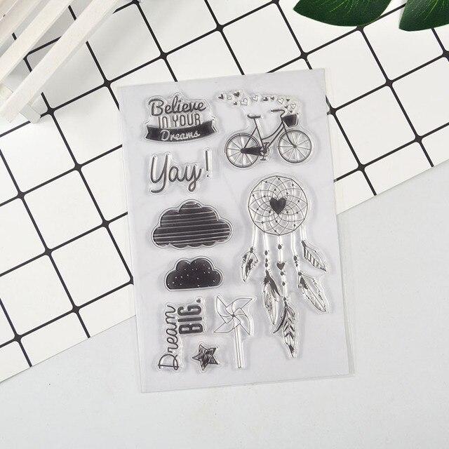 DECORA 1 STÜCKE fahrrad Klar Transparent Stempel DIY Scrapbooking/Kartenherstellung/Weihnachtsdekoration Lieferungen