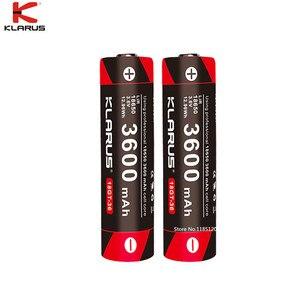 Image 1 - 2pcs KLARUS 18650 3600mAh 18GT 36 3.6V  Li ion Battery high performance 18650 li battery