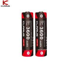 KLARUS Batería de ion de litio de alto rendimiento, 2 uds., 18650, 3600mAh, 18GT 36, 3,6 V