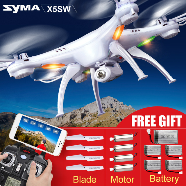 Syma X5SW(X5S X5SC Upgrade) Remote Control FPV WiFi Real-time Transmission Drone with Camera HD 2.4G 4CH 6-Axis RC Helicopter