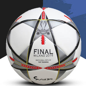 5 PU Soccer Ball for Cup 2018 Champions League Game Size Silver Star Design  Blue 7200b7c22ee2a