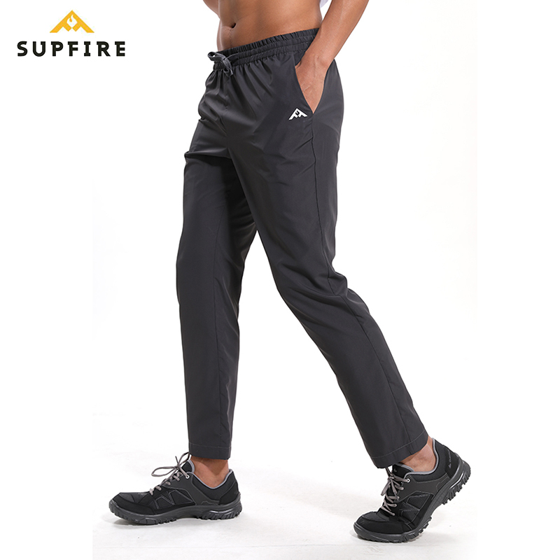 Running Pants Gym Training Hiking Elasticity Legging Jogging Supfire Male Sports Trousers Sportswear C025