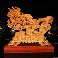 Wood carved dragon,desktop Decoration home decorations ornaments(A024)