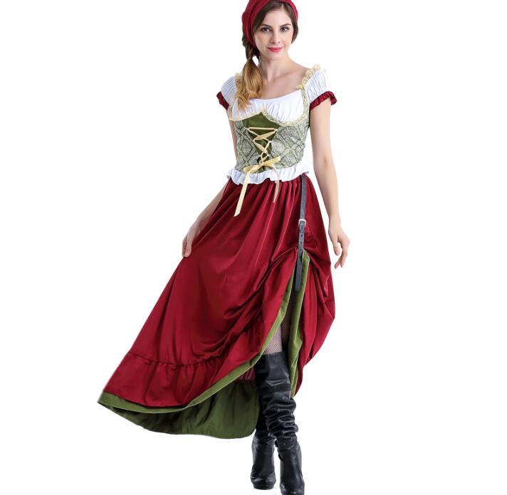 Halloween European Traditional Costume Cute Girl Lolita Dress Working Cloth Beautiful Beer Suit