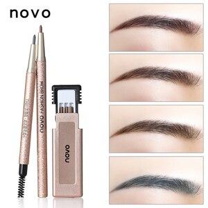 Image 5 - 1 шт. профессиональный макияж для бровей с заправкой, легко носить, пигментные водостойкие коричневые и серые карандаши для бровей, набор косметики для макияжа