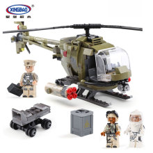 XingBao 06013 Genuine Military Series 621Pcs The Fighting Helicopter Set Children Educational Building Blocks Bricks Toys Model
