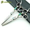 """6 """"зеленый бриллиант профессиональные ножницы волос высокого качества парикмахерских tesouras де cabelereiro profissional para corte de cabelo"""