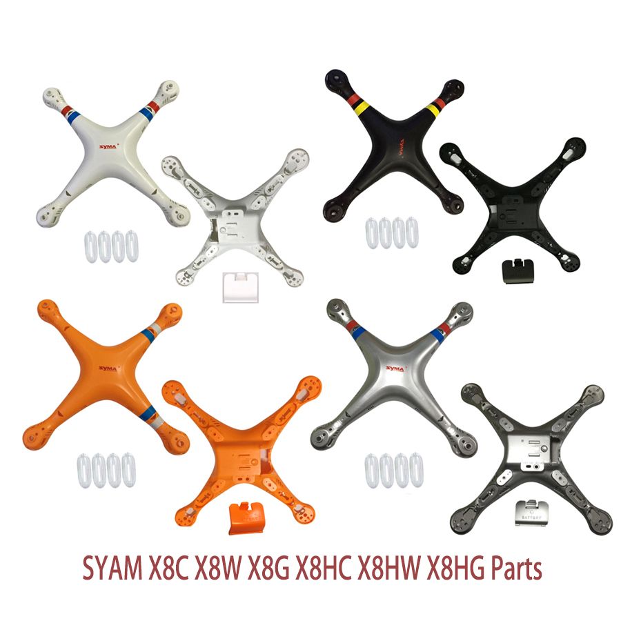 SYMA X8 X8G X8HC X8HG Slive Color Main Body shell Cover Quadcopter Fuselage Drone Spare Parts 2.4G 4CH 6-Axis RC Helicopter wholesale syma x5sw rc quadcopter drone spare parts main body shell cover 5pcs