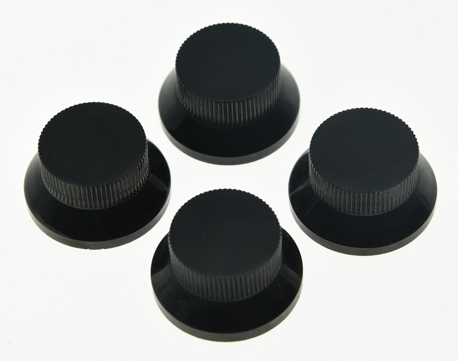 KAISH 4pcs Black Metal LP Top Hat Bell Knobs Guitar Bass Knob for Metric 5.8mm Pots wireless buzzer bell system new arrival restaurant service pager full beautiful equipment 1 display 16 call button