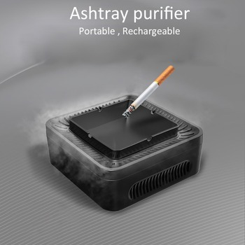 Smokeless Ashtray Car Air Purifier Office Purification Ashtray Private Model for Office Home HEPA Filter Ashtray Air Purifier