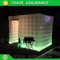 Dj da festa de casamento tenda cubo inflável cabine de fotos