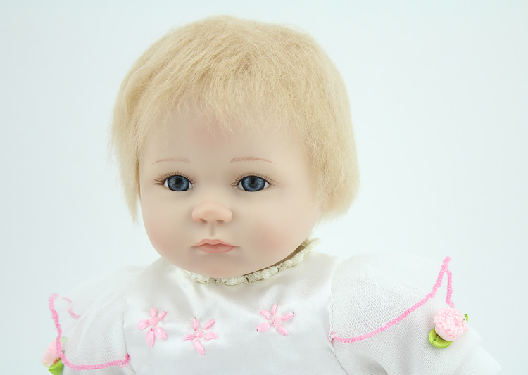 цены Silicone reborn baby doll toys for girl, lifelike 18