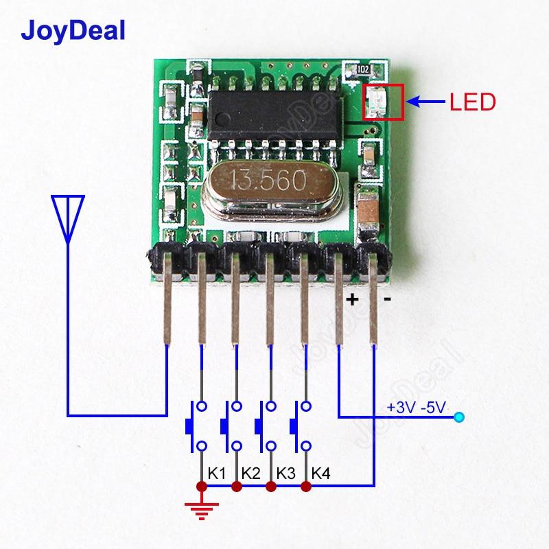 433 MHz 1CH RF Relaisschalter Drahtlose Fernbedienung Licht Garagentor Tor