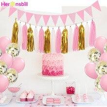 15 Uds. Borla de papel para niños, suministros de fiesta de cumpleaños, Decoración de mesa para bebé, niña, Adulto, decoraciones para fiestas de princesa
