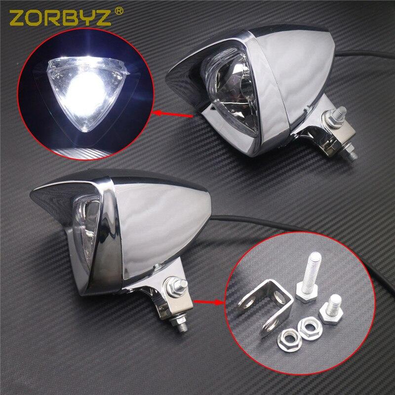 """4.76/"""" Chrome 12V Motorcycle Bullet Headlight Head Lamp For Harley Honda Cruiser"""