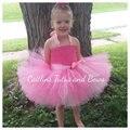 Niños Ropa de verano para Chica Vestido de Color Sólido vestido del tutú del Bebé Arco de La Cinta Princesa Pink Fancy vestido de Bola PT190