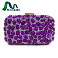 Milisente Women Evening Clutch Bag Gold Clutches Bags Blue Party Silver Wedding Party Purse Purple