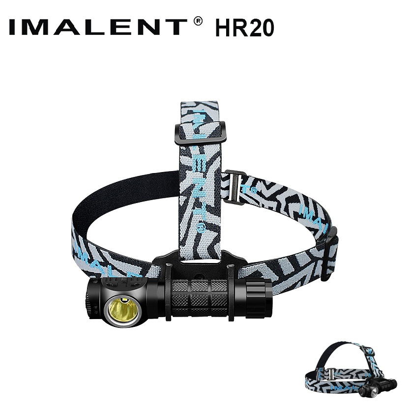IMALENT HR20 Cree XP-L Flashlight Touch 1000lm Led Headlamp w/USB Charging Port Tactical Headlight by 18650 Battery Self Defense fenix cree xp e2 r5 led 450lumens 4aa batteries headlamp headlight